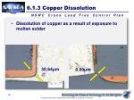 6 1 3 copper dissolution