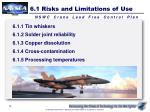 6 1 risks and limitations of use