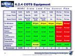 6 2 4 cots equipment