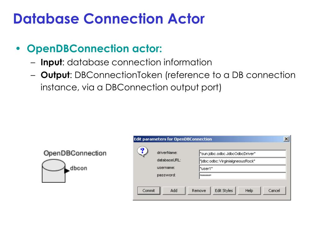 Database Connection Actor