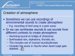 creation of atmosphere