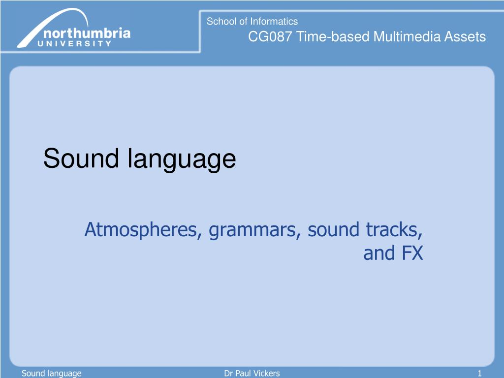 sound language l.