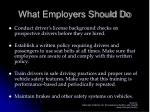 what employers should do
