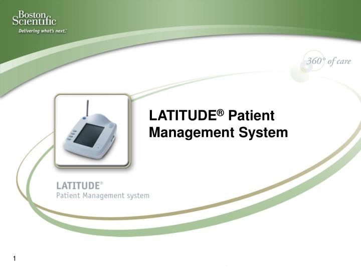 latitude patient management system n.