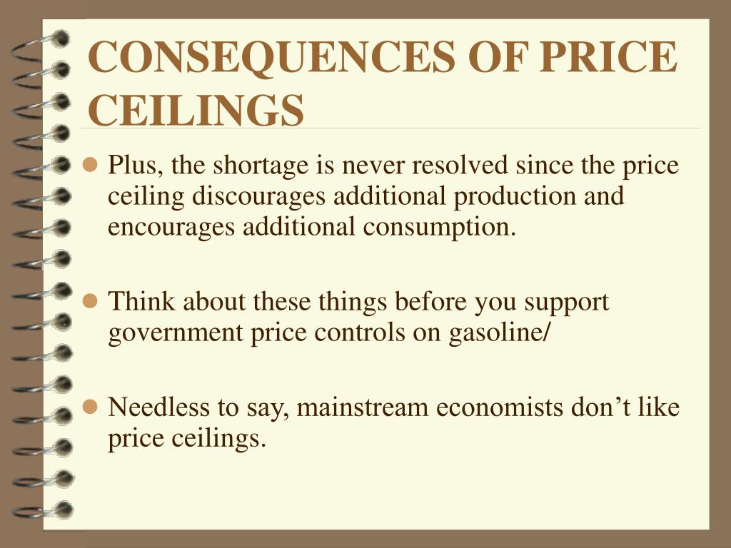 CONSEQUENCES OF PRICE CEILINGS