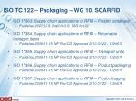 iso tc 122 packaging wg 10 scarfid