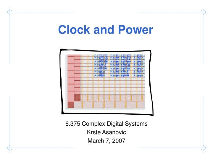 clock and power n.