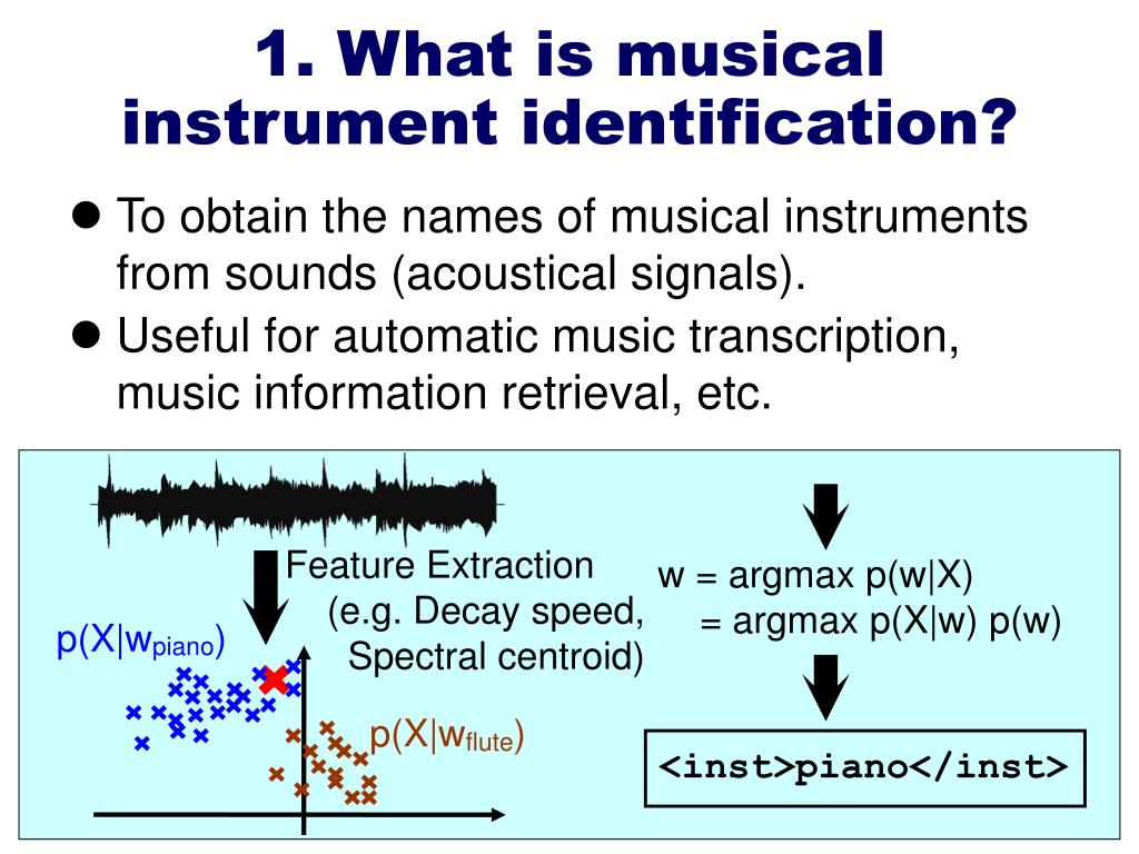 1. What is musical instrument identification?