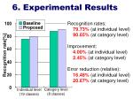 6 experimental results
