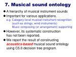 7 musical sound ontology