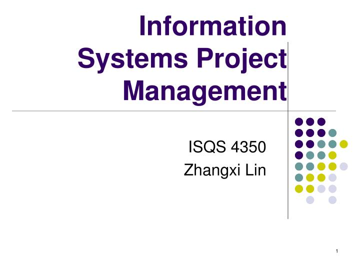 information systems project management n.