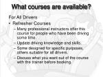what courses are available10