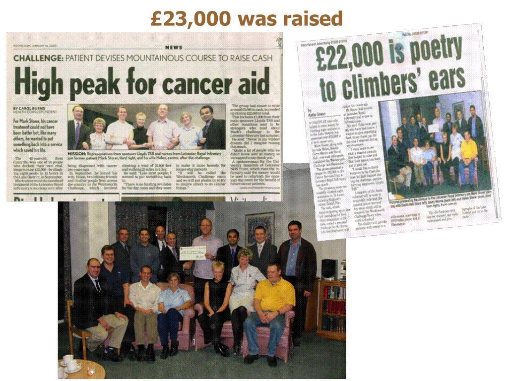 £23,000 was raised