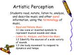 artistic perception