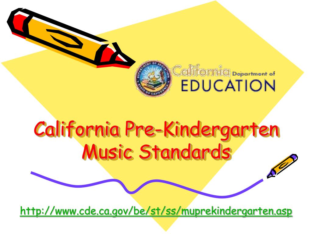 california pre kindergarten music standards l.