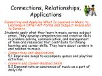 connections relationships applications