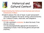 historical and cultural context