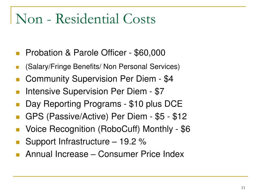 Non - Residential Costs