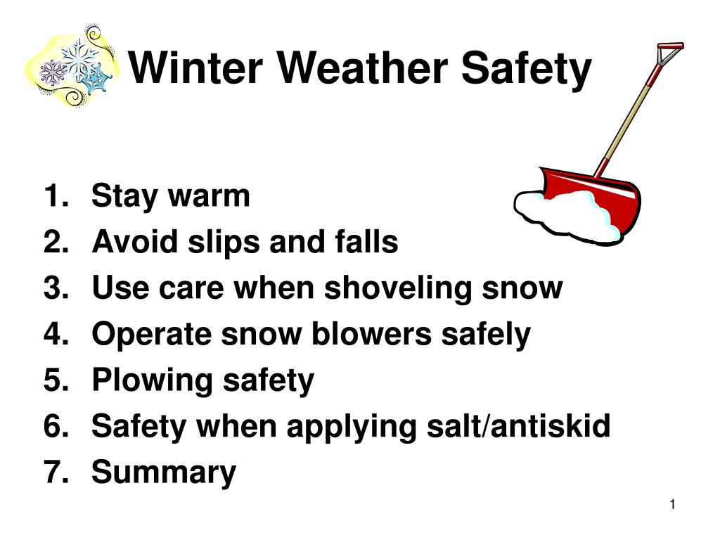winter weather safety l.