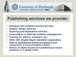 publishing services we provide