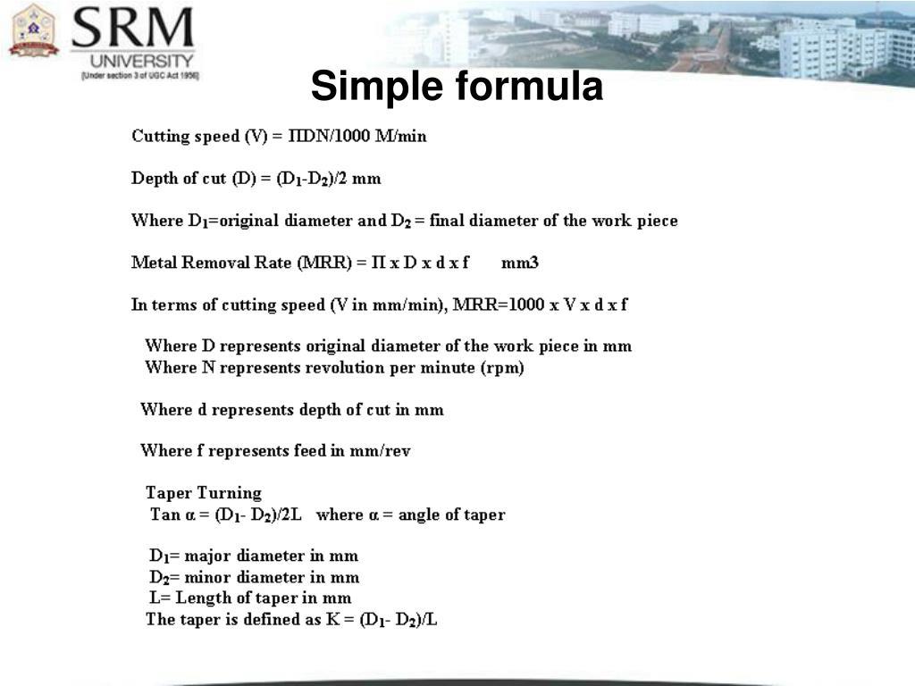 Simple formula