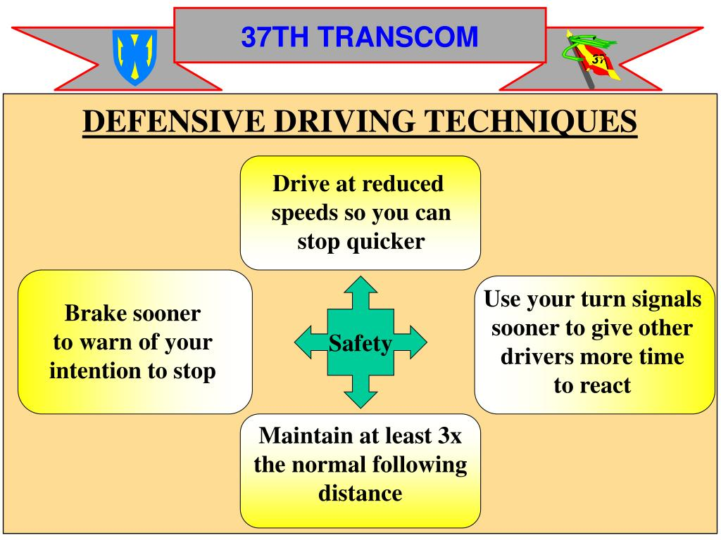 DEFENSIVE DRIVING TECHNIQUES