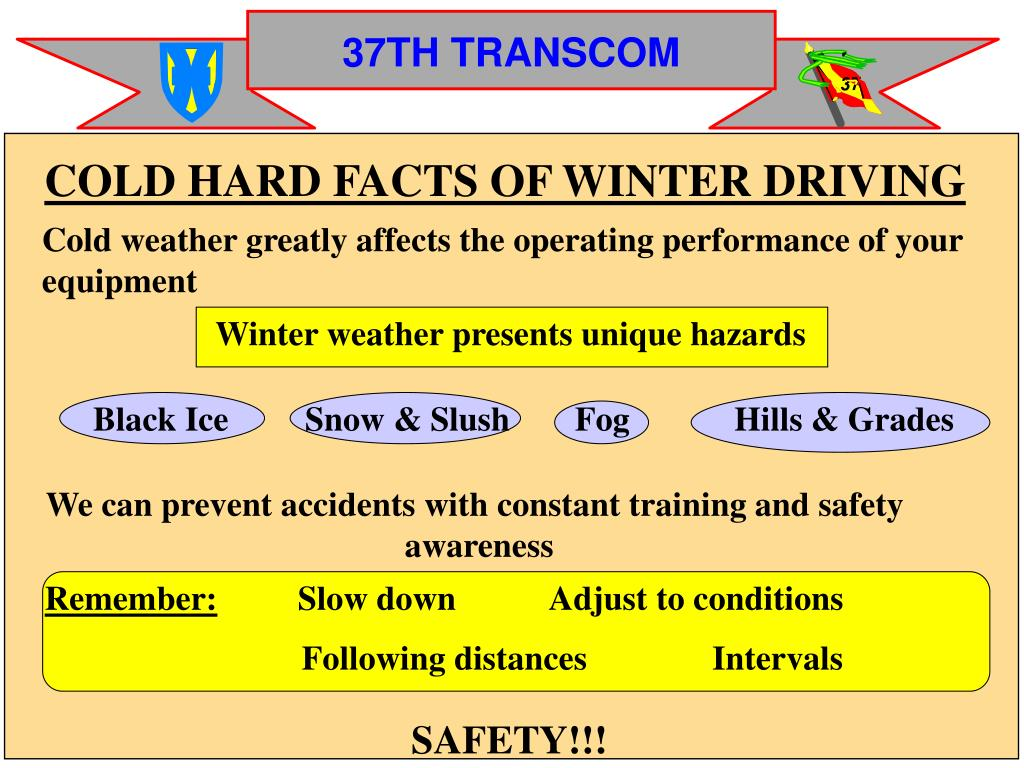 COLD HARD FACTS OF WINTER DRIVING