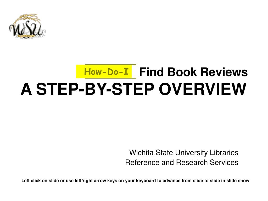 find book reviews a step by step overview l.