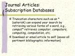 journal articles subscription databases9