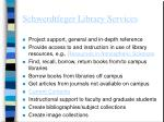 schwerdtfeger library services