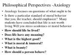 philosophical perspectives axiology