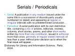 serials periodicals
