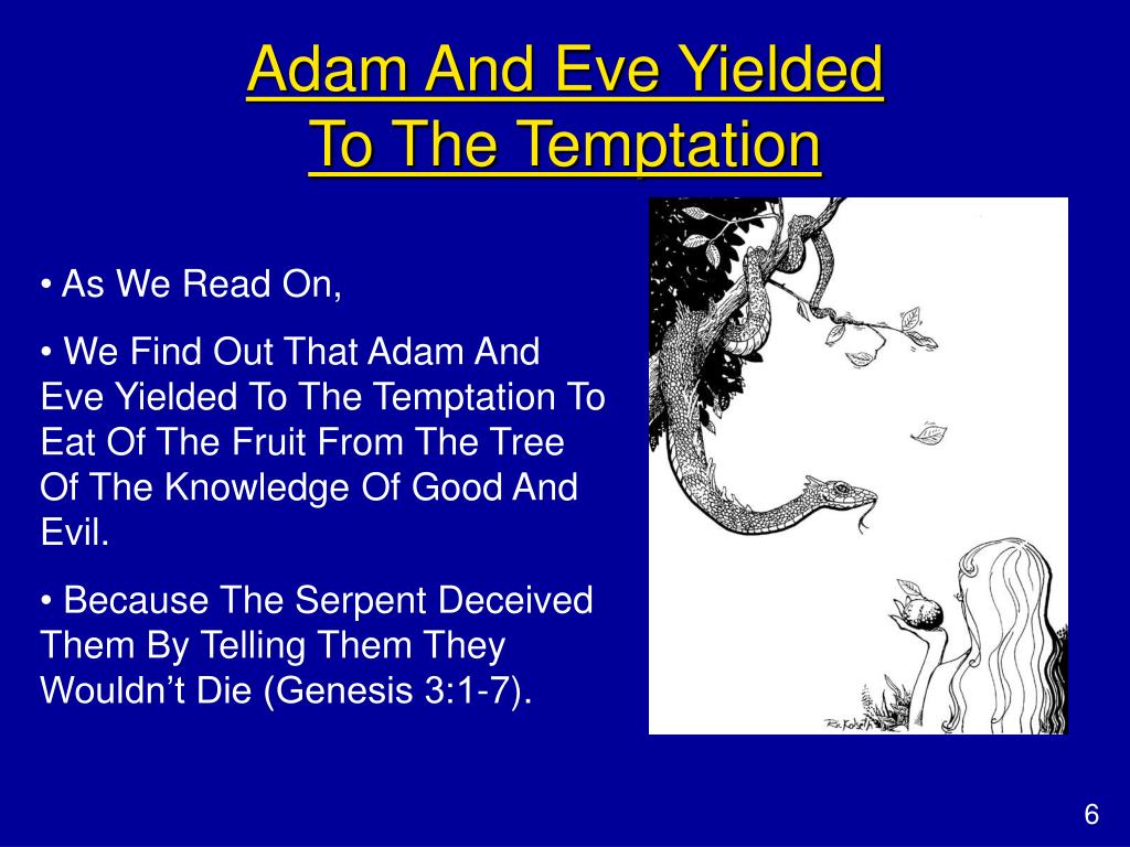 Adam And Eve Yielded