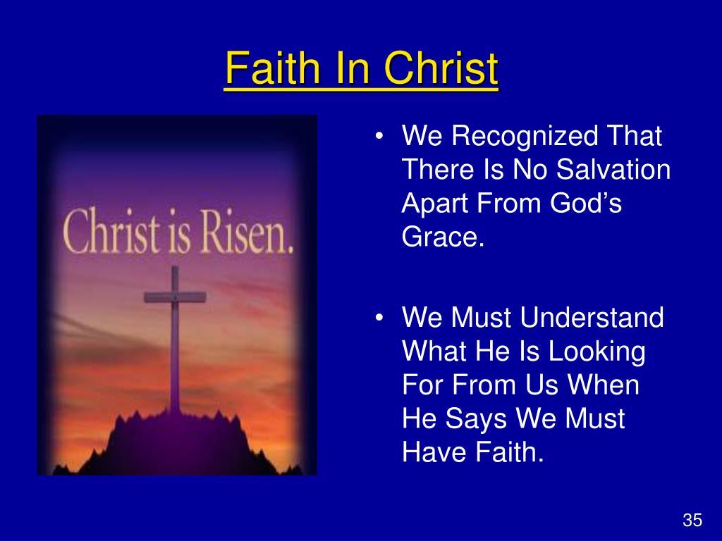 Faith In Christ