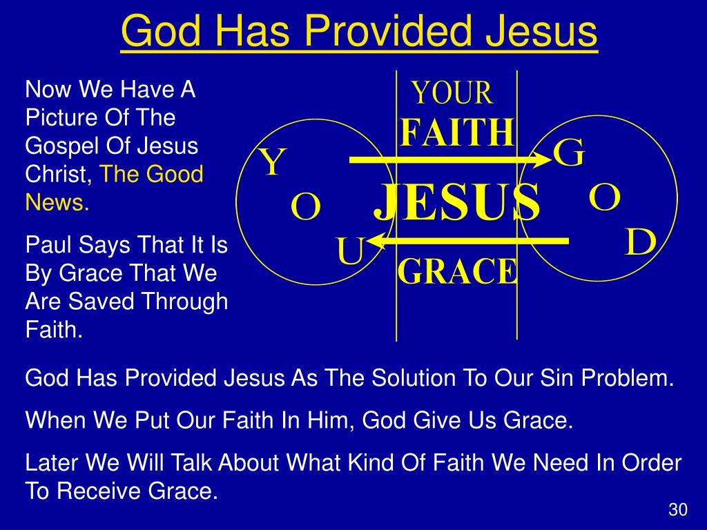 God Has Provided Jesus