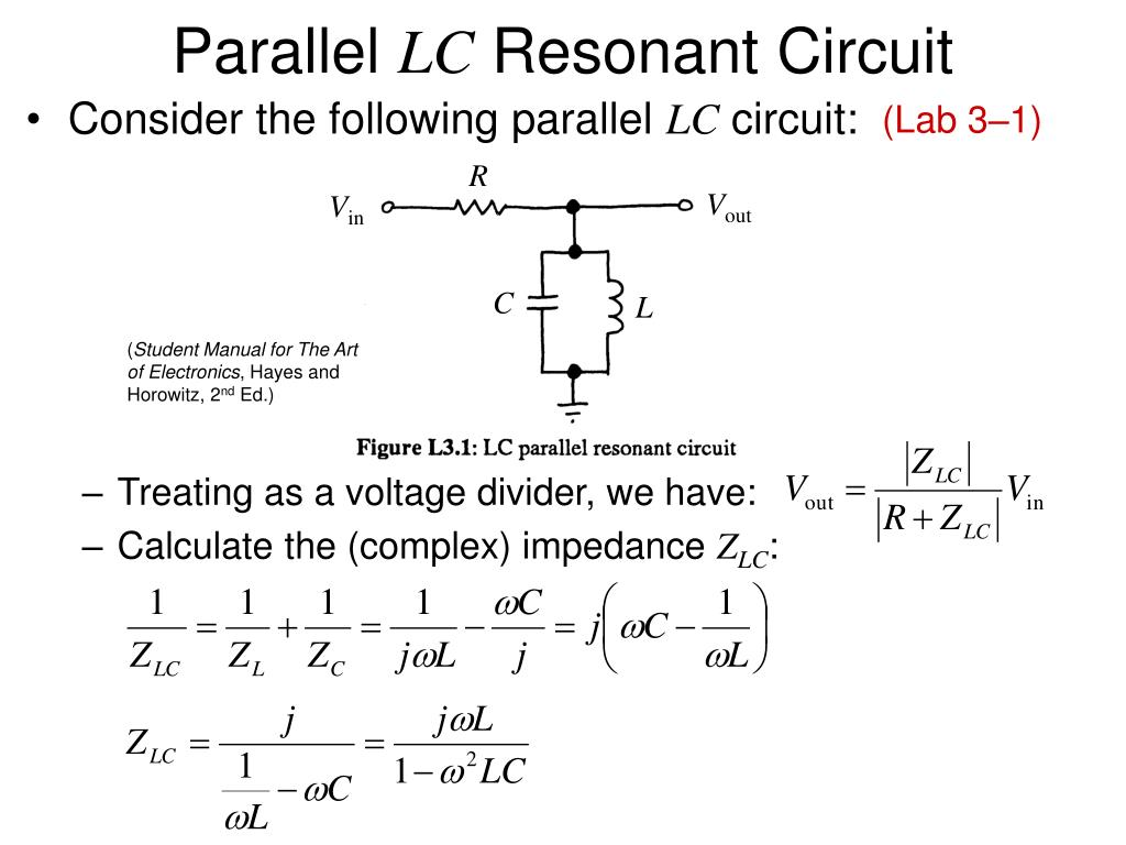 Ppt Parallel Lc Resonant Circuit Powerpoint Presentation Id417949 Electronic I Lab Manual L