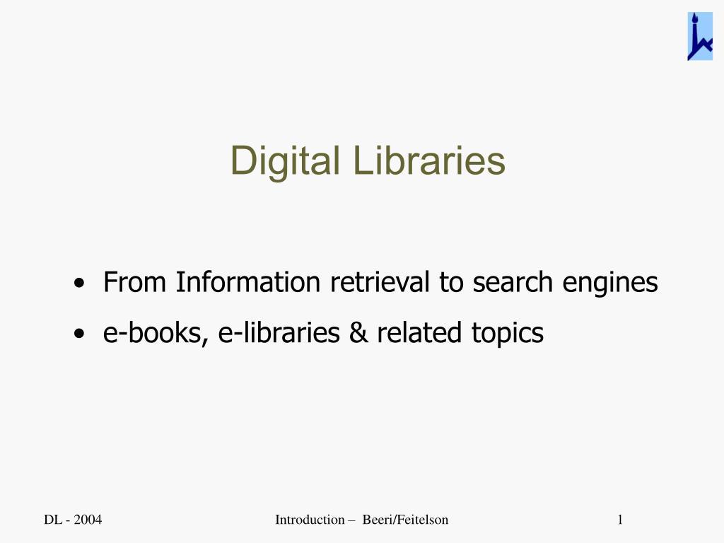 digital libraries l.