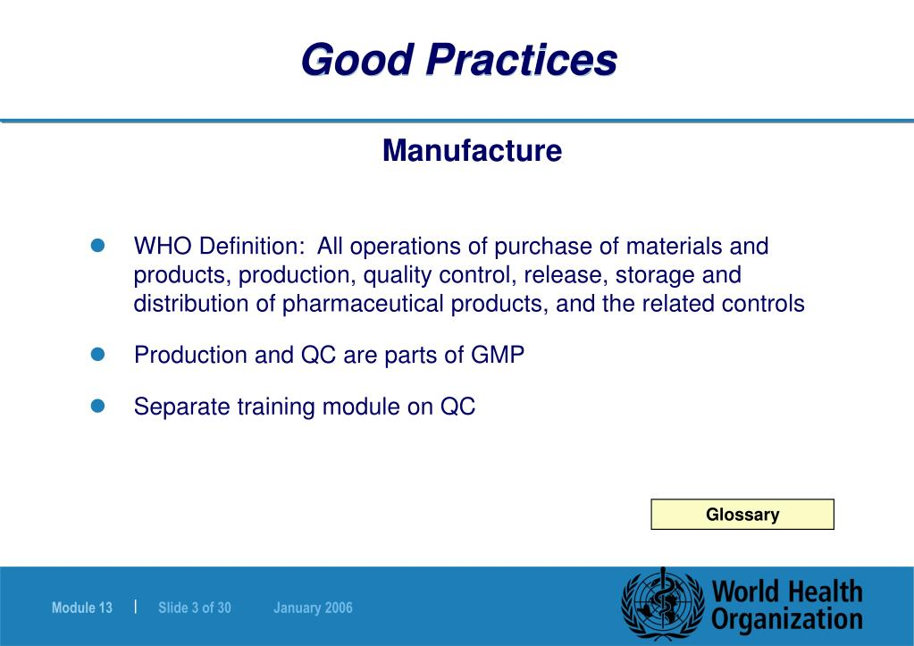 PPT - Good Practices in Production and Quality Control