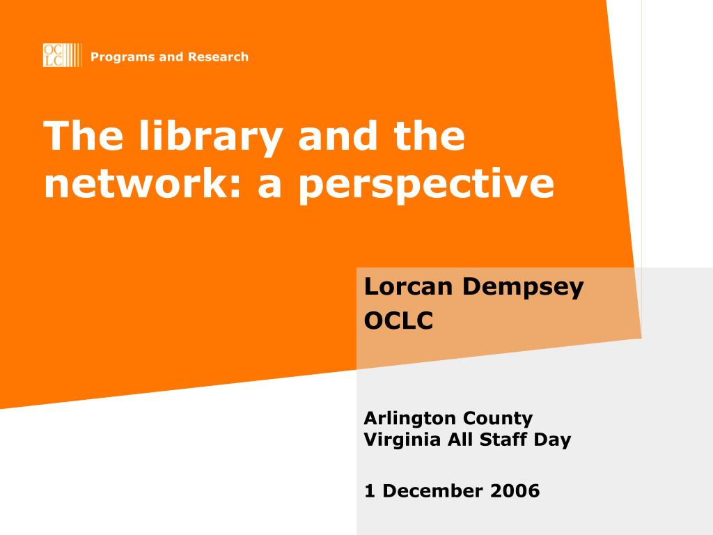 the library and the network a perspective l.