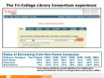 the tri college library consortium experience