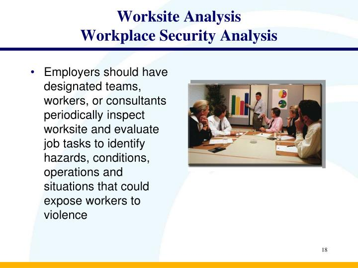 an analysis of the characteristics of workplace violence behavior Hillard heintze's behavioral threat assessment & threat management services   when the threat escalates: know your options for mitigating workplace violence  risk  and methodology-driven analysis to identify behaviors and characteristics .