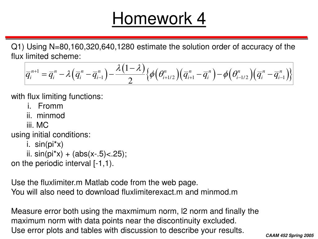 PPT - Numerical Methods for Partial Differential Equations