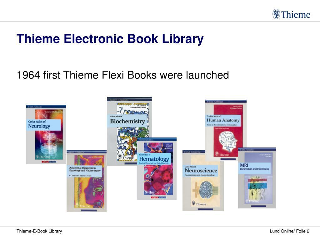 Thieme Electronic Book Library