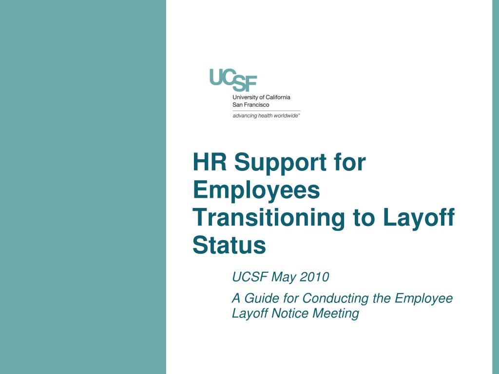 PPT - HR Support for Employees Transitioning to Layoff Status