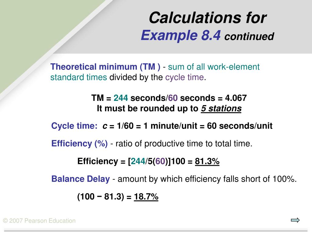 Calculations for