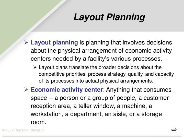 Layout planning