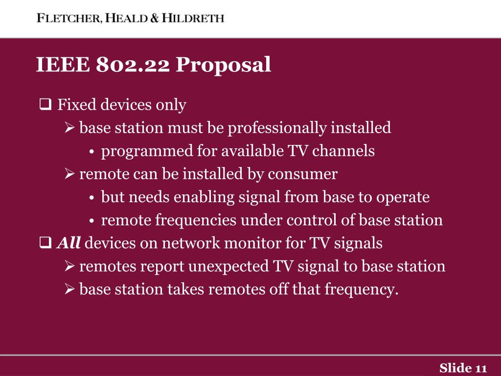 IEEE 802.22 Proposal