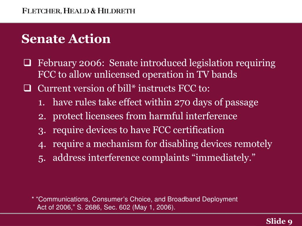Senate Action