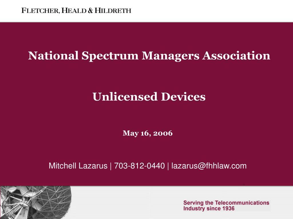 National Spectrum Managers Association