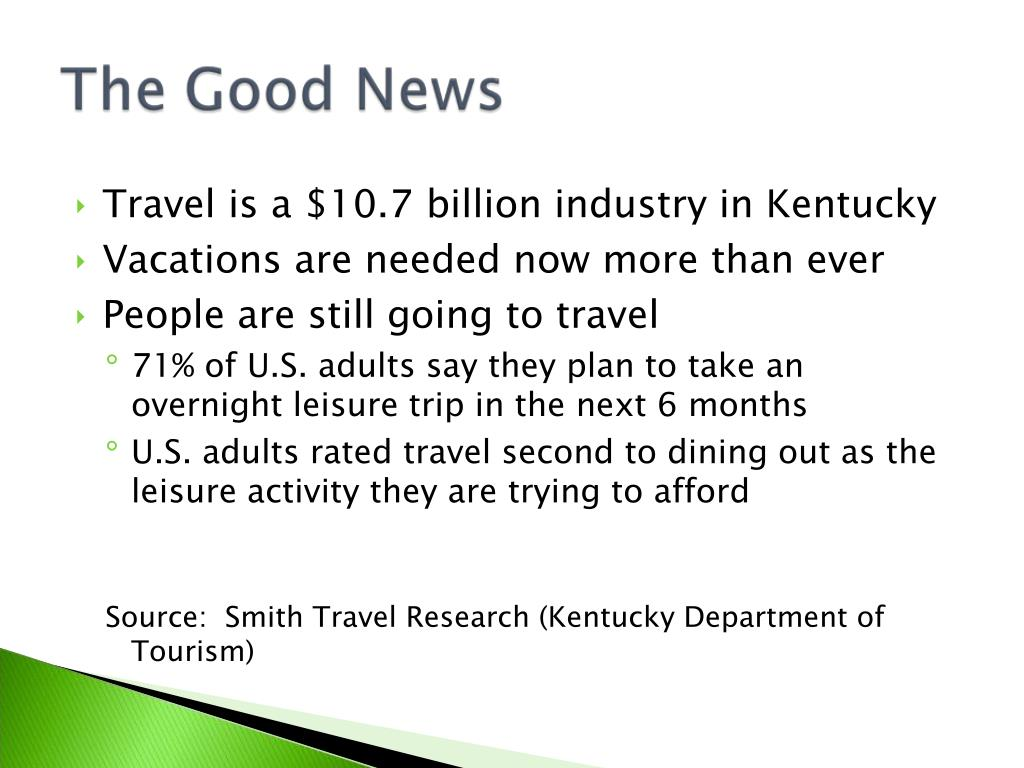 Travel is a $10.7 billion industry in Kentucky